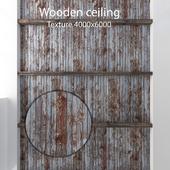 Деревянный потолок с балками 11
