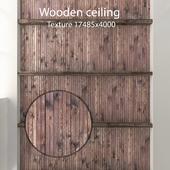 Деревянный потолок с балками 13