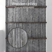 Деревянный потолок с балками 14