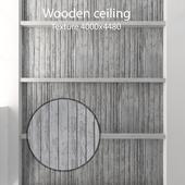Деревянный потолок с балками 15