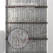Деревянный потолок с балками 16
