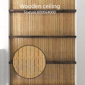 Деревянный потолок с балками 17