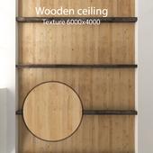 Деревянный потолок с балками 18