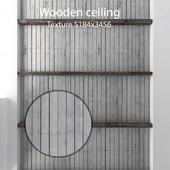Деревянный потолок с балками 19