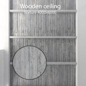 Деревянный потолок с балками 20