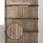 Деревянный потолок с балками 21