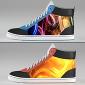 ShiftWear Sneakers with LCD Flexible Display