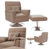 Avi Relaxer Chair & Footstool