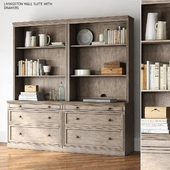 Pottery barn LIVINGSTON WALL SUITE WITH DRAWERS