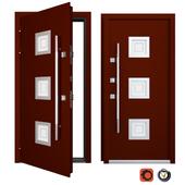 Entrance metal door Inox S-6 (Your Frame)