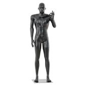 Black glossy mannequin hand gesture 37