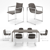ARCO Frame chair and Slim table