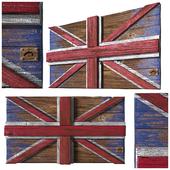 "Decorative panel ""British flag"". Loft."