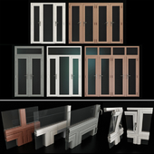Stained aluminum doors / Stained aluminum doors
