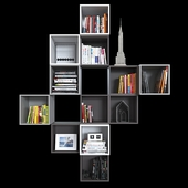 Комбинация настенных шкафов IKEA Экет 2.