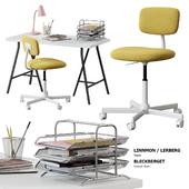 Ikea / Linnmon - Lerberg Table + Bleckberget Chair