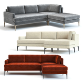 West Elm Andes 3-Piece Chaise