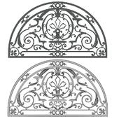 semi circle arch window grill