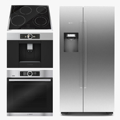 Bosch fridge cooktop oven cooktop coffee machine