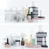 A set of cosmetics