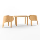 Elephant table & chair set