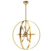 Chandelier Filament Design 12-Light Warm Brass Chandelier