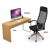 MARKUS Office Chair and MICKE Desk IKEA