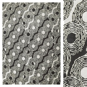 Carpet ARCHITONIC Panafrica Noir et Blanc by Toulemonde Bochart
