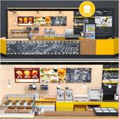 Fastfood And Coffee Kiosk