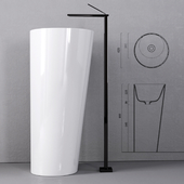 IL Sink Freestanding by Valdama