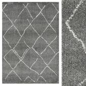 Carpet CarpetVista Shaggy Agadir - Gray / Off White CVD20128