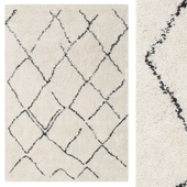 Carpet CarpetVista Shaggy Agadir - Off-White / Dark Gray CVD19367