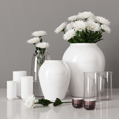 decorative set with chrysanthemums 04