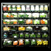 Shelves with vegetables