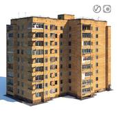 Soviet nine-story house