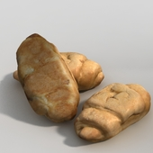 croissant 3d scan