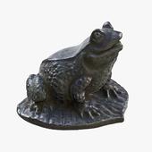Frog Sculpture PBR 3D Model