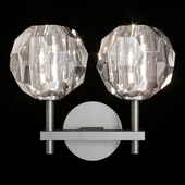Restoration Hardware BOULE DE CRISTAL DOUBLE SCONCE Black