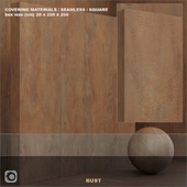 Material (seamless) - plaster, rust, plate set 98