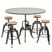 Andy Thornton - Industrial Pub Dining Set
