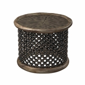 "Restoration hardware BAMILEKE KING'S 28 ""SIDE TABLE"