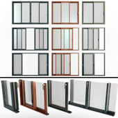 Sliding Stained Glass Aluminum Windows / Sliding Stained Glass Aluminum Windows