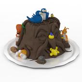"Cake from mastic ""Tree"""