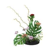 Ikebana Japanese art of flower arrangement 3d model