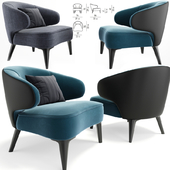 Minotti Aston Armchair With Pillow