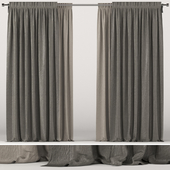 Brown curtains in two shades.