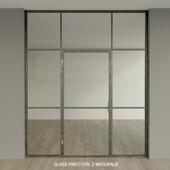Glass partition. Door.9