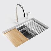 """Kitchen sink: KOHLER Prolific 29 """"under-mount single-bowl kitchen sink"""