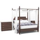 Royal Kahala Diamond Head Wood Poster Bed