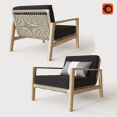 MESA TEAK LOUNGE CHAIR